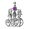 Sterling Silver Rhiannon Pendant with Amethyst