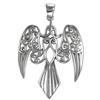 Sterling Silver Large Morrigan Raven Pendant