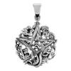 Sterling Silver Cimaruta Pentacle Pendant