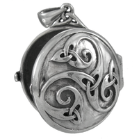 Sterling Silver Celtic Knotwork Swirl Locket Pendant