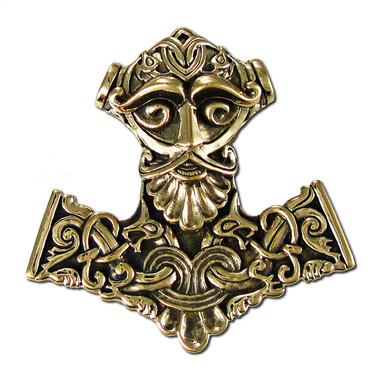 Bronze Thor Hammer Pendant Norse God