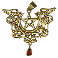 Bronze Dragon Pentacle Pendant