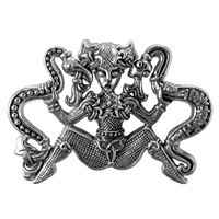 Sterling Silver Ormhaxan Snake Witch Pendant