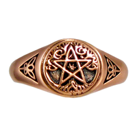 Copper Tree Pentacle Ring