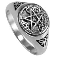 Sterling Silver Tree Pentacle Ring