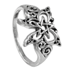 Sterling Silver Butterfly Pentacle Ring