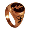 Copper Chalice and Blade Pentacle Ring