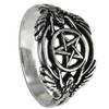 Silver Hermetic Guardian Angel Pentacle Ring