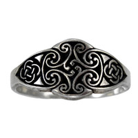 Cross of the Irish Goddess Dana Celtic Knot Ring