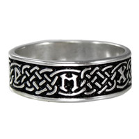 Silver Celtic Knot Norse Rune Love Handfasting Ring