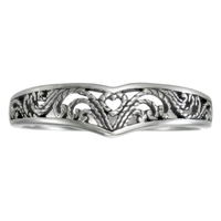 Sterling Silver Victorian Filigree Heart Ring