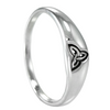 Narrow Sterling Silver Celtic Knot Triquetra Ring