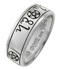 Sterling Silver Handfasting Theban Pentacle Ring