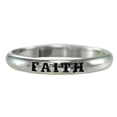 Sterling Silver Faith Spiritual Inspirational Ring