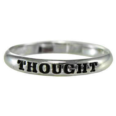 Sterling Silver Thought Spiritual Inspirational Ring