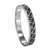 Narrow Braided Silver Celtic Motif Band Ring