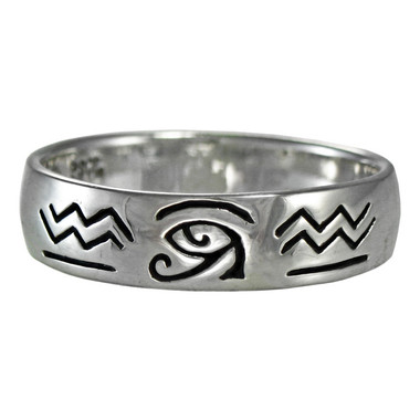 Silver Eye of Horus Ra Udjat Egyptian Ring