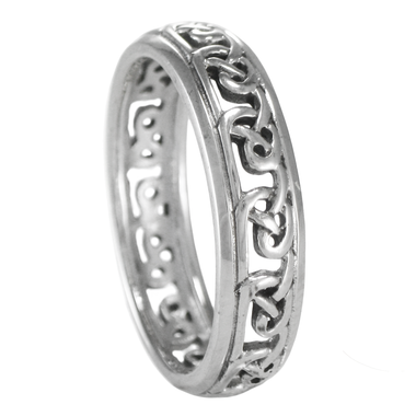 Celtic Infinity Knot Band Ring