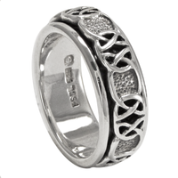Silver Celtic Knot Spinner Worry Ring