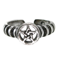 Guardian Angel Protection Pentacle Ring SS Sterling Silver Band sz 4-12 Hermetic