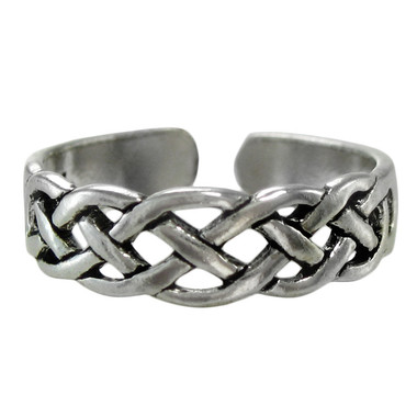 Sterling Silver Celtic Knot Toe Or Pinky Ring Body Jewelry