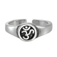 Sterling Silver Aum Symbol Toe Ring
