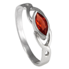 Sterling Silver Celtic Knot Garnet Gemstone Ring