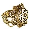 Large Bronze Ornate Pentacle Ring