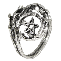 Sterling Silver Tree Branch Pentacle Ring