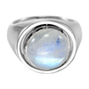 Sterling Silver Tree of Life Rainbow Moonstone Flip Ring with Sun and Moon