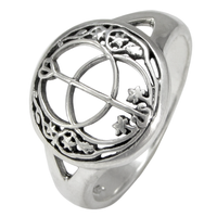 Sterling Silver Chalice Well Ring