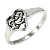 Sterling Silver Celtic Love Knot Ring Jewelry
