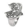 Large Sterling Silver Celtic Love Knot Heart Ring Jewelry