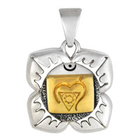 Muladhara Base Chakra Pendant Sterling Silver Gold Plated