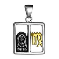 Virgo The Virgin Sterling Silver Gold Plating Zodiac Pendant