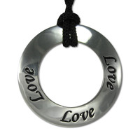 Love Motivational Saying Pendant Necklace