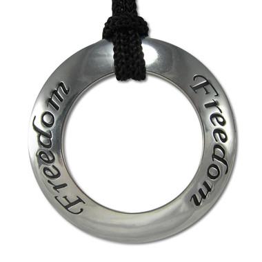 Freedom Motivational Saying Pendant Necklace