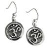 Sterling Silver Solid Aum Om Ohm Earrings Hindu Buddhist Jewelry