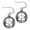 Sterling Silver Chalice Well Dangle Earrings