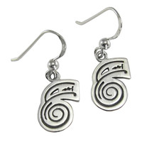 Sterling Silver Dai Ko Myo Reiki Healing Symbol Earrings Jewelry