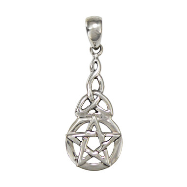 Sterling Silver Celtic Knot Triquetra Pentacle Pendant for men women Jewelry