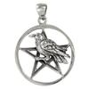 Silver Raven Pentacle Pendant