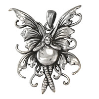 Sterling Silver Water Fairy Pendant by Amy Brown