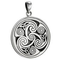 Sterling Silver Celtic Knot Triskele Triskelion Pendant for men women Jewelry