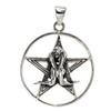 Sterling Silver Lovers Pentacle Pentagram Pendant Wiccan Pagan Love Jewelry
