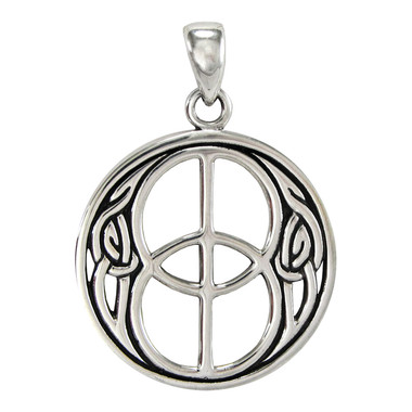 Chalice Well Pendant - Sterling Silver Sacred Symbol of Avalon Jewelry