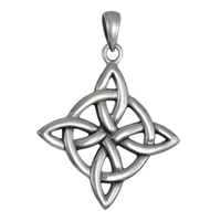 Sterling Silver Quaternary Witches Knot Pendant