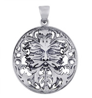 Sterling Silver Celtic Green Man Pendant