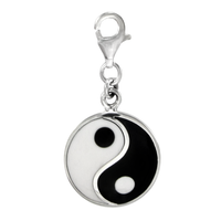 Sterling Silver Yin Yang Clip-On Charm