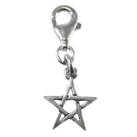 Sterling Silver Pentacle Star Pentagram Clip Charm Jewelry